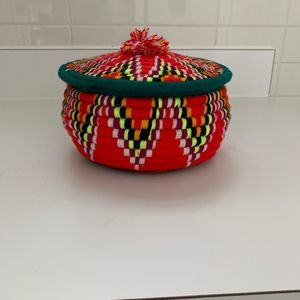 Vintage Mexican Hand Made Basket